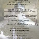 """Mostra """"Dentro la Montagna"""" in occasione de """"La montagna in città"""""""